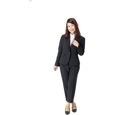 洗える リクルートスーツ レディース ビジネス スーツ テーパードパンツ パンツスーツ 黒 紺 小柄 小さい(s210204041)