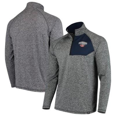 ニューオーリンズ・ペリカンズ Fanatics Branded Static Quarter-Zip Pullover ジャケット - Heathered Charcoal