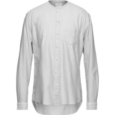 フラディ FRADI メンズ シャツ トップス Solid Color Shirt Light grey