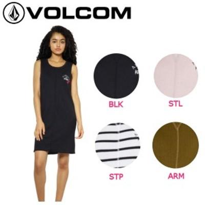 【VOLCOM】ボルコム2018春夏 WASH MACH THERMAL DRESS レディース ノースリーブワンピース ワンピ スカート S-M 4カラー【正規品】