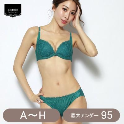 星柄刺繍ブラ&ショーツセット(エレガンテ/Elegante)