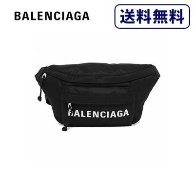 [正規品]送料無料 BALENCIAGA バレンシアガ HEEL BELTPACK ブラック ウエストバッグ メンズ 533009-H851N-1000