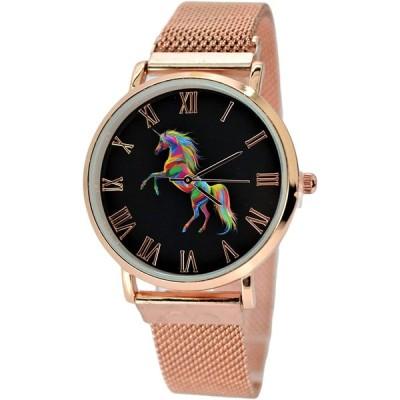 Women's Unicorn Watches Analog Quartz Rose-Gold Tone Ladies Watch Mode