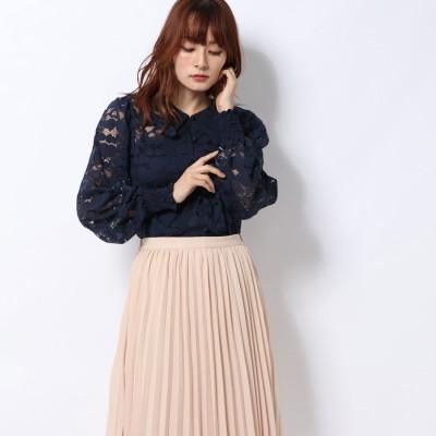 ハニーミーハニー HONEY MI HONEY heart lace blouse/ハートレースブラウス (navy)