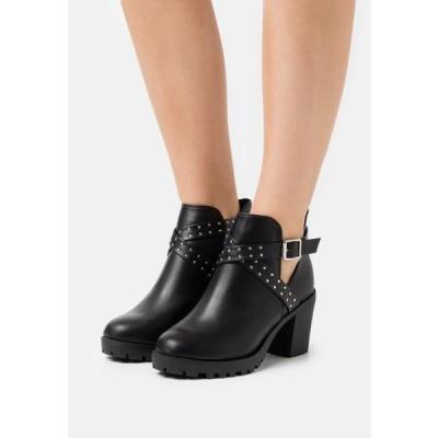 ニュールック レディース 靴 シューズ WIDE FIT CHAZZA - Platform ankle boots - black