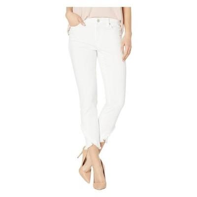 リバプール レディース デニムパンツ ボトムス Abby Crop Skinny Front Scallop Hem Jeans in Bright White