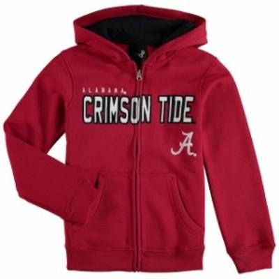 Genuine Stuff ジュニュイン スタッフ スポーツ用品  Alabama Crimson Tide Youth Crimson Stated Full-Zip Hoodie