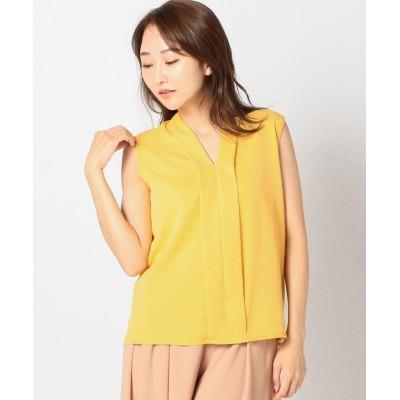 【ミューズ リファインド クローズ】 Vネックノースリーブブラウス レディース マスタード M MEW'S REFINED CLOTHES
