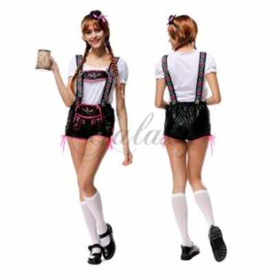 ハロウィン  ビールガール ドイツ メイド 民族衣装 ウェイトレス コスプレ衣装 ps2749