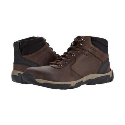Clarks クラークス メンズ 男性用 シューズ 靴 ブーツ レースアップ 編み上げ Grove Hike - Brown Leather Waterproof
