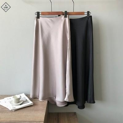 スカート レディース ロングスカート 光沢あり マキシ丈スカート 滑り キレイめ 秋 春 スプリング セール 安い 美品