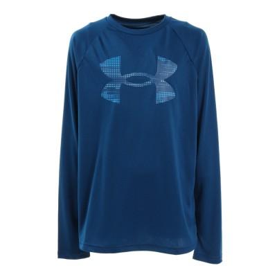 アンダーアーマーウェアUAテック ロゴ フィル 長袖Tシャツ 1357601 GRB/ERB ATダークブルー