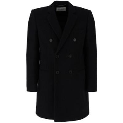 SAINT LAURENT PARIS/イヴ サンローラン Black Saint laurent wool coat メンズ 秋冬2020 587925 Y077V ik