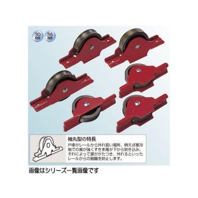 ヨコヅナ RJK-0301 赤枠2mm厚ローラー戸車 30 丸 (バラ)