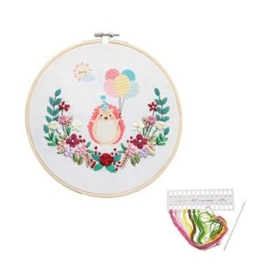 小動物たちの刺繍キット (可愛いハリネズミ)