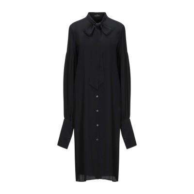 ROKH 7分丈ワンピース・ドレス ブラック 36 アセテート 73% / シルク 27% 7分丈ワンピース・ドレス