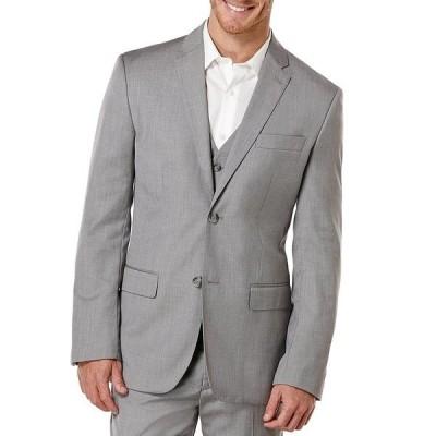 ペリーエリス メンズ ジャケット&ブルゾン アウター Herringbone Suit Separates Jacket Brushed Nickel
