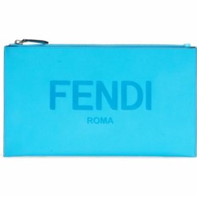 フェンディ FENDI レディース クラッチバッグ バッグ Logo Zip Leather Pouch Pool