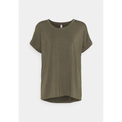 ソヤコンセプト Tシャツ レディース トップス SC-MARICA 33 - Basic T-shirt - dark army