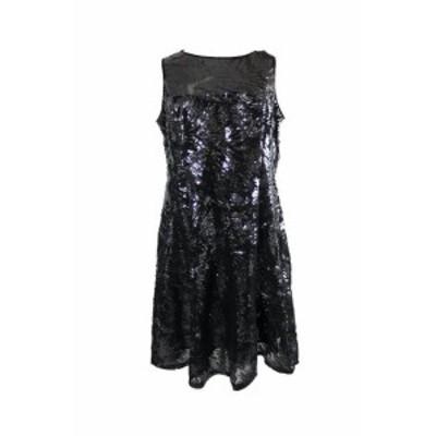 ファッション ドレス Slny Black Sleeveless Paneled Fit & Flare Dress 8