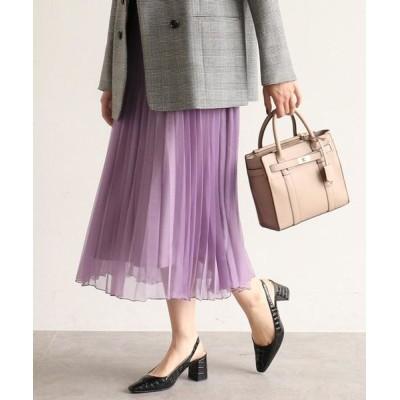 AG by aquagirl/エージー バイ アクアガール 【WEB限定Lサイズあり】オーガンジーランダムプリーツスカート ライトパープル(081) 40(L)