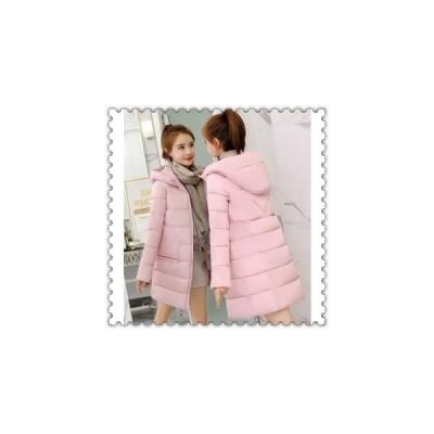 中綿ジャケットレディースロングコートダウンコートアウターフード付きスリム冬着痩せ防寒服