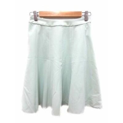 【中古】プロフィール PROFILE スカート フレア ひざ丈 36 緑 グリーン /YK レディース