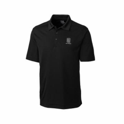 メンズ ポロシャツ TPC San Antonio Cutter & Buck DryTec Northgate Polo - Black
