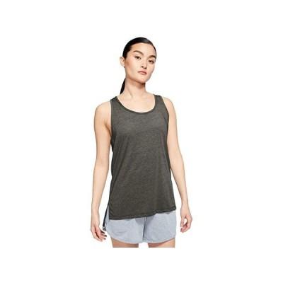 ナイキ Yoga Layer Tank レディース シャツ トップス Cargo Khaki/Heather/Medium Olive
