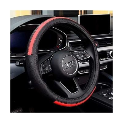 LUYED ハンドルカバー Mサイズ ハンドル 赤 外径37.5~38.9cmのミニバン 1BOX RV 乗用車 普通自動車 ステアリングカ