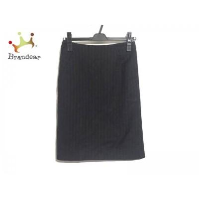 セオリー theory スカート サイズ0 XS レディース 美品 黒×グレー ストライプ  スペシャル特価 20210314