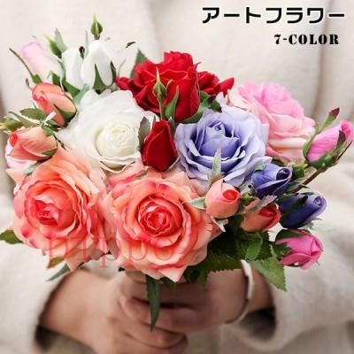 結婚式 ローズ 花束 造花 花 アートフラワー アレンジメント リアル 腐らず 北欧 室内装飾 インテリア お祝い 母の日 贈り物