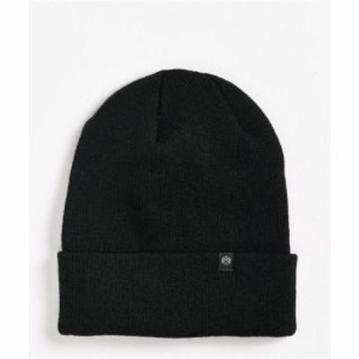 ジン ZINE レディース ニット ビーニー 帽子 Zine Essential Black Beanie Black