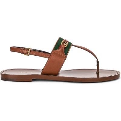 グッチ Gucci レディース サンダル・ミュール シューズ・靴 siryo thong sandals Light Ebony