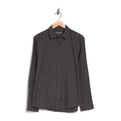スレート アンド ストーン メンズ シャツ トップス Long Sleeve Flannel Shirt DK GREY