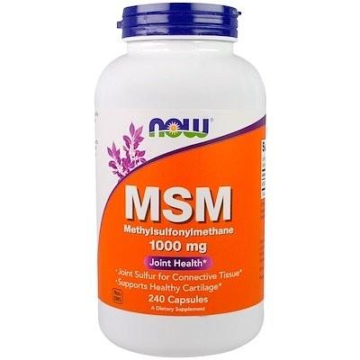 MSM, Methylsulfonylmethane, 1,000 mg, 240 Capsules