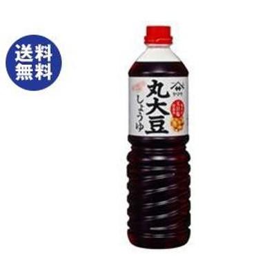 送料無料 ヤマサ醤油 丸大豆しょうゆ 1Lペットボトル×6本入