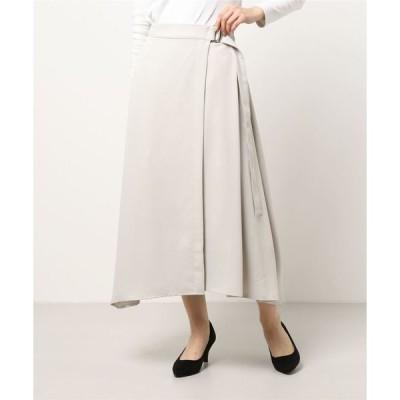 スーツ レディース 【洗えるセットアップ】イレギュラーヘムラップスカート