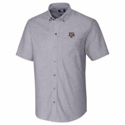 Cutter & Buck カッター アンド バック シャツ ポロシャツ Cutter & Buck Texas A&M Aggies Charcoal Stretch Oxford Button-Down Short