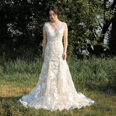 ウエディングドレス 大きいサイズ 二次会 レース スレンダー 前撮り フォトウエディング 披露宴 結婚式