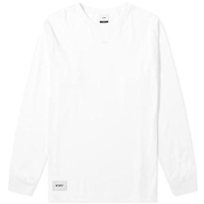ダブルタップス WTAPS メンズ 長袖Tシャツ トップス long sleeve sign. design tee White