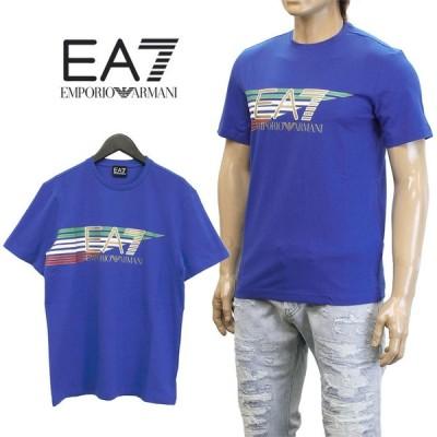 エンポリオアルマーニ EA7 Tシャツ メンズ ブランドロゴ 3ZPTA0-PJM5Z-1598 ブルー セール