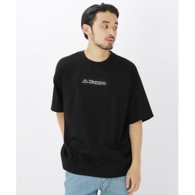 BASE STATION/ベースステーション コラボ 別注 Kappa / カッパ バックジップ 半袖 Tシャツ ブラック(019) 02(M)