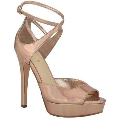 ゲス レディース サンダル シューズ Seana Patent Platform Dress Sandals Natural
