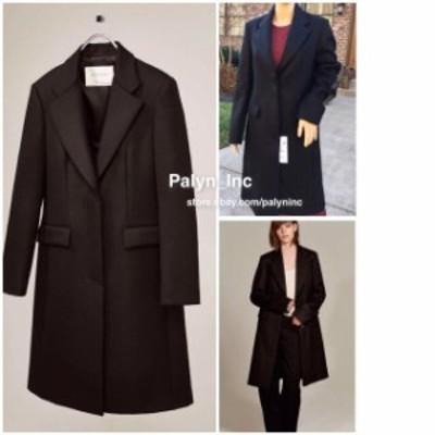 ファッション 衣類 NWT ZARA STUDIO LONG MASCULINE COAT JACKET 100% WOOL _ALL SIZE
