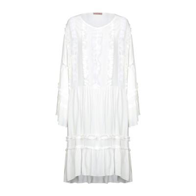DV Roma ミニワンピース&ドレス ホワイト S レーヨン 100% ミニワンピース&ドレス