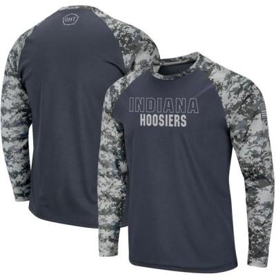 ユニセックス スポーツリーグ アメリカ大学スポーツ Indiana Hoosiers Colosseum OHT Military Appreciation Digi Camo Raglan Long Sl