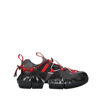 JIMMY CHOO スニーカー&テニスシューズ(ローカット) ブラック 41 紡績繊維 / 革 スニーカー&テニスシューズ(ローカット)