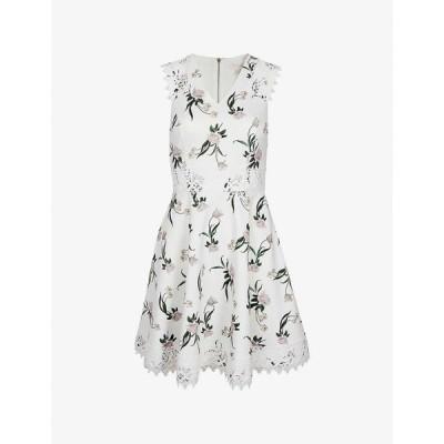 テッドベーカー TED BAKER レディース ワンピース ワンピース・ドレス Nolla floral-print stretch-crepe dress WHITE