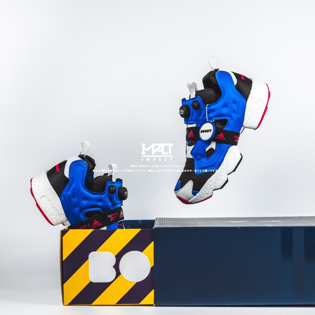 IMPACT Adidas x Reebok Insta Pump Fury Boost 鋼彈 聯名 藍紅白 FY8776